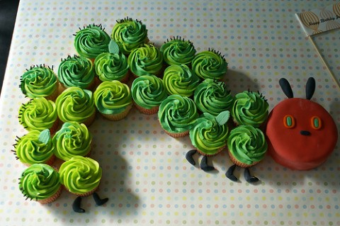 Cupcake Cake of the Hungry Hungry Caterpillar
